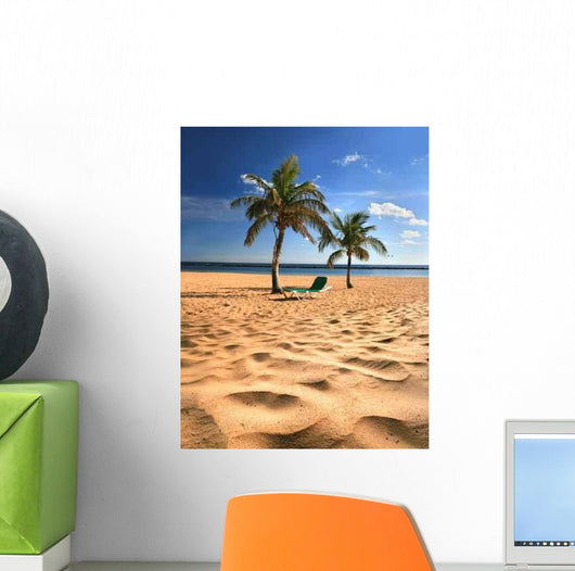 Tropical Beach Wall Decal Design 3