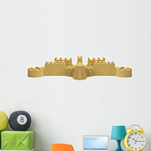 Big Sand Castle White Wall Decal