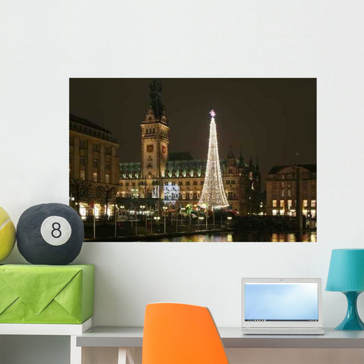 Christmas Market City Hall Wall Decal