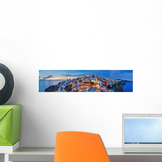 Santorin Panorama Abendstimmung Wall Decal