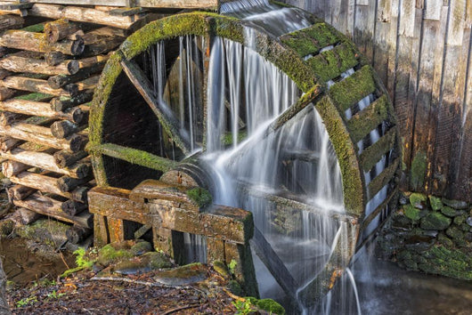Grist Mill Water Wheel Wall Decal