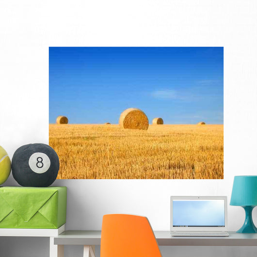 Field and Bales Hay Wall Decal