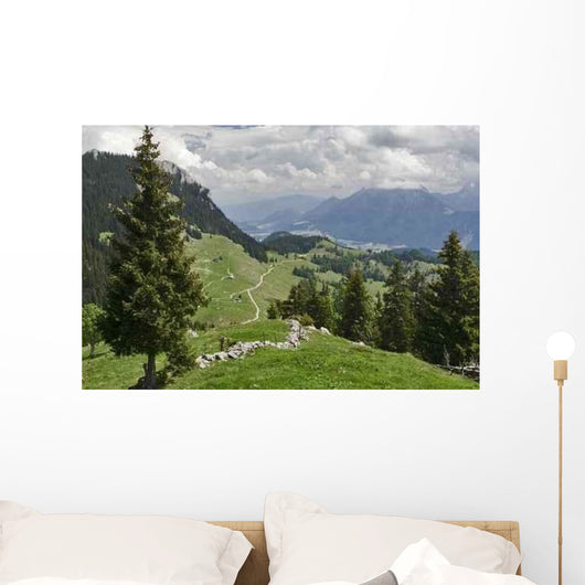 Bavarian Mountains Wall Decal Design 1