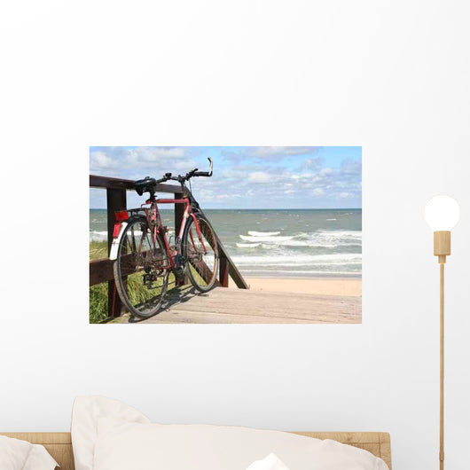 Sports Bike Beach Wall Decal