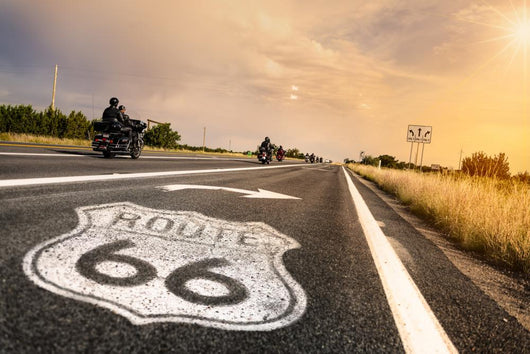 Historic Route 66 Road Wall Decal