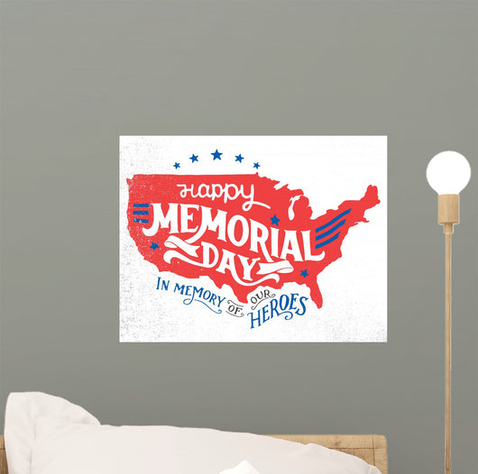 Happy Memorial Day Memory Wall Decal