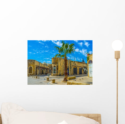Corner Buildings Old Jaffa Wall Decal
