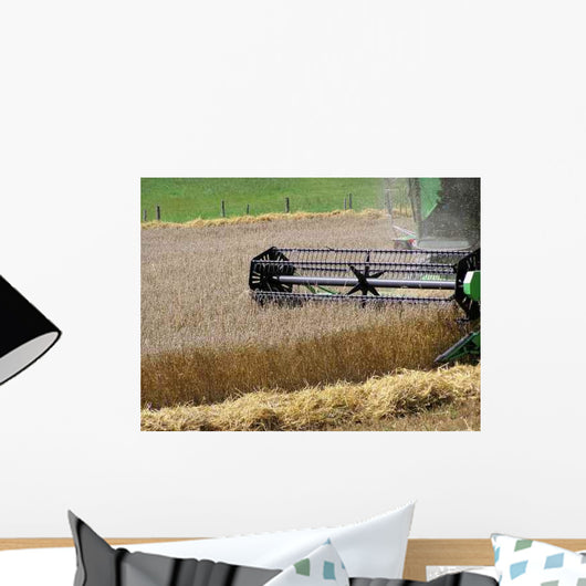 0239 Harvesting Wheat Wall Decal