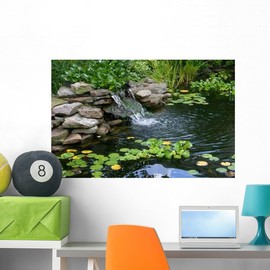Homemade Pond Wall Decal Design 2