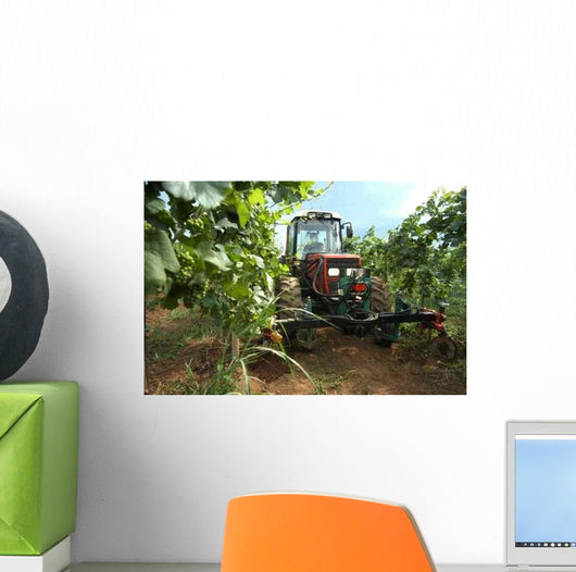 Vineyard Tractor Wall Decal