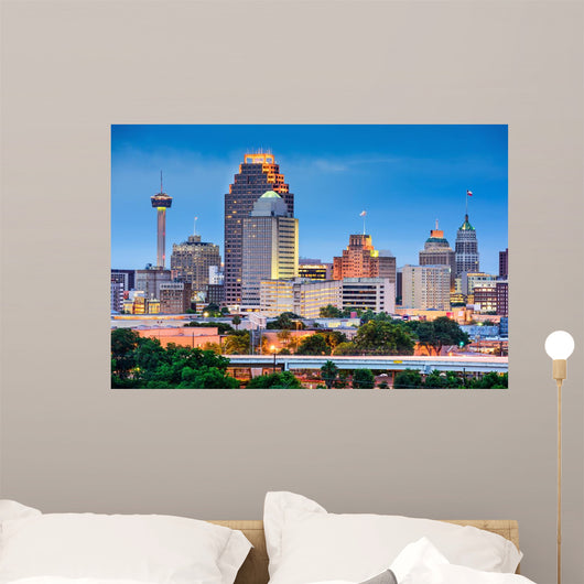 San Antonio Skyline Wall Decal
