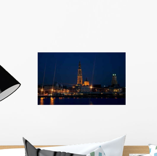 Antwerp City Night Wall Decal