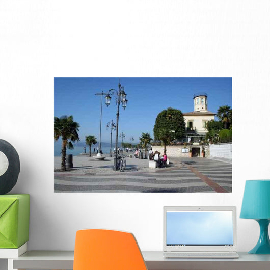 Uferpromenade Lazise Wall Decal