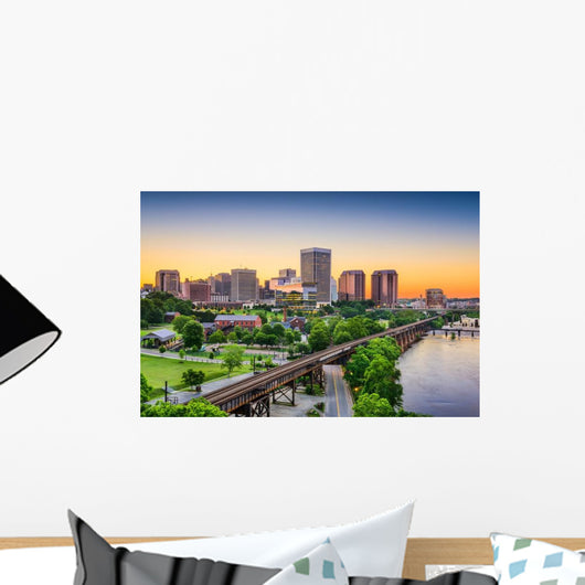 Richmond Virginia USA Skyline Wall Decal