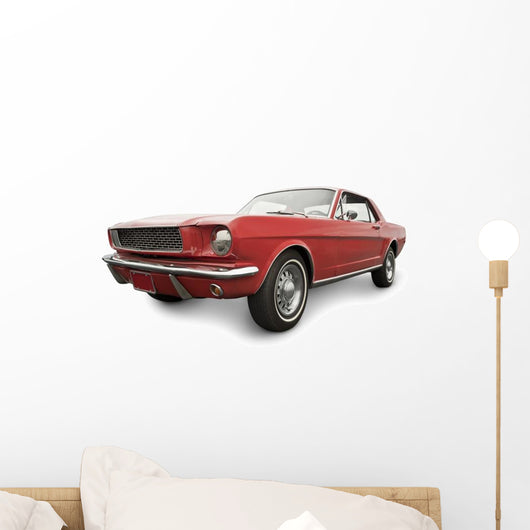 Red Classic Car Wall Decal