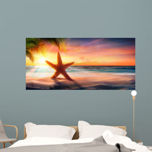 Starfish Sand Tropical Beach Wall Decal