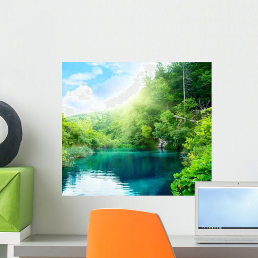 Lake Deep Forest Wall Decal Design 5