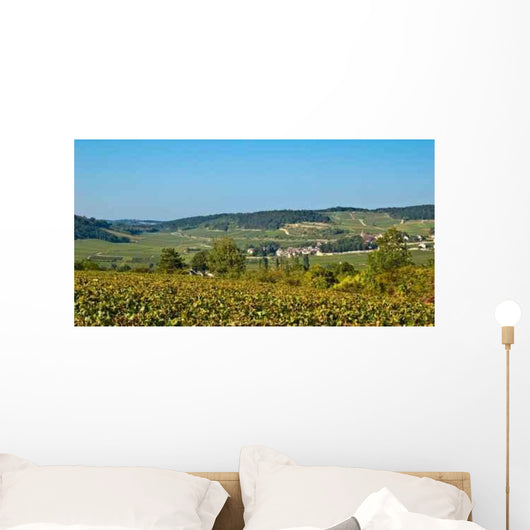 Burgundian Vineyards Wall Decal