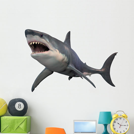 Angry Great White Shark Wall Decal