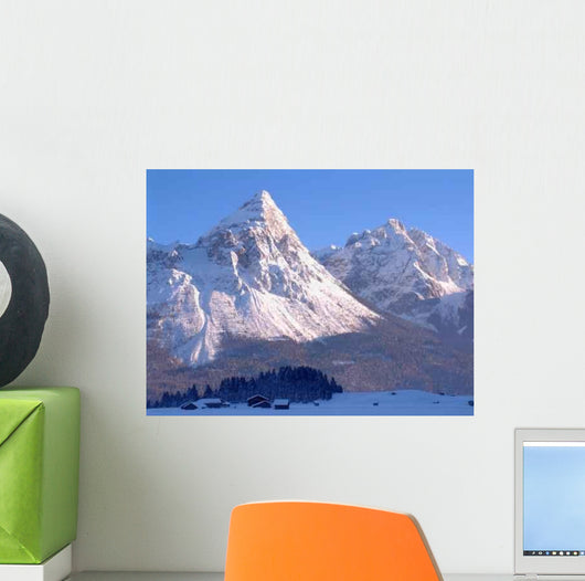 Austrian Mountain Peak Wall Decal