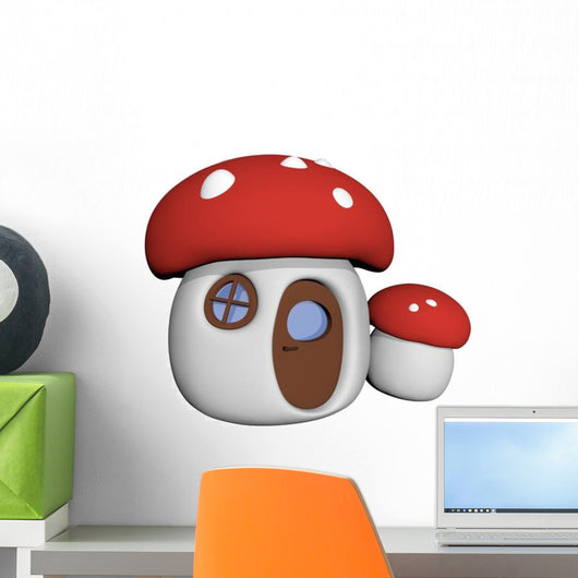 Fairy Toadstool Mushroom House Wall Decal
