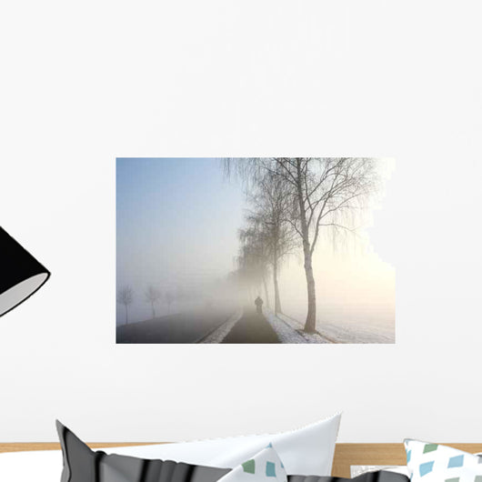 Snow Landscape Mist Wall Decal