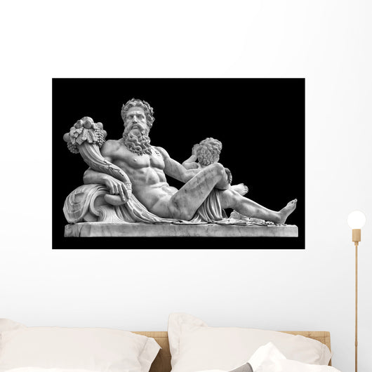 Marble Statue Greek God Wall Decal