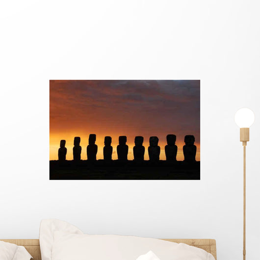 Rapa Nui Twilight Easter Wall Decal