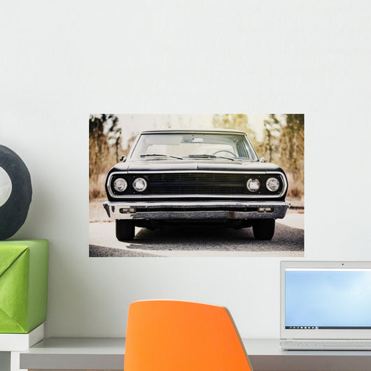 Classic American Black Car Wall Decal