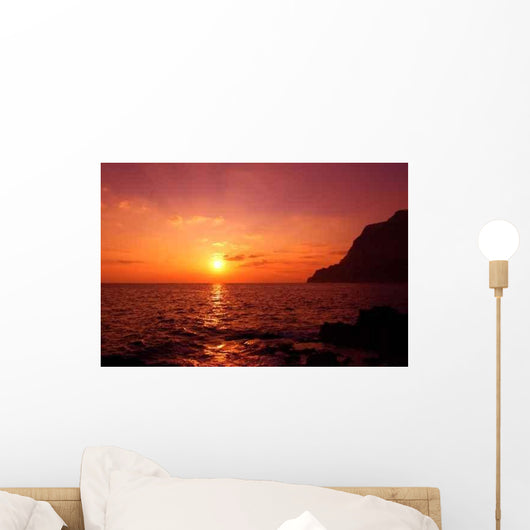 Sunset Capri Island Wall Decal