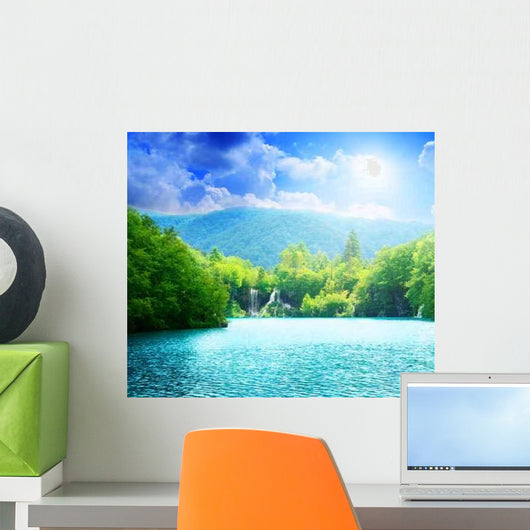 Lake Deep Forest Wall Decal Design 2
