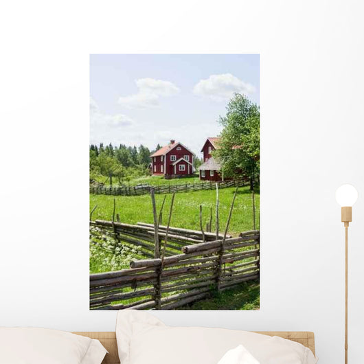 Wooden Pole Fence Wall Decal