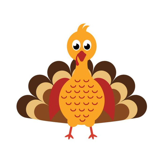 Cartoon Turkey Wall Decal