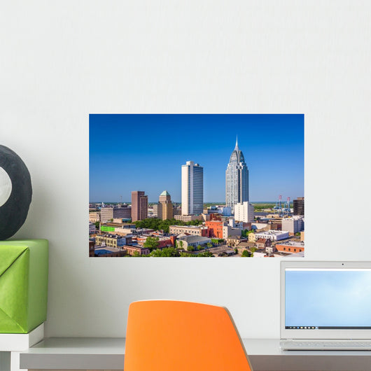 Mobile Alabama Skyline Wall Decal