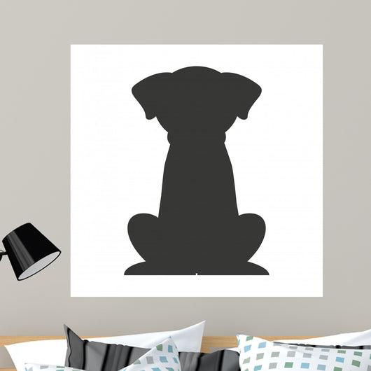 Dog Pet Silhouette Icon Wall Decal