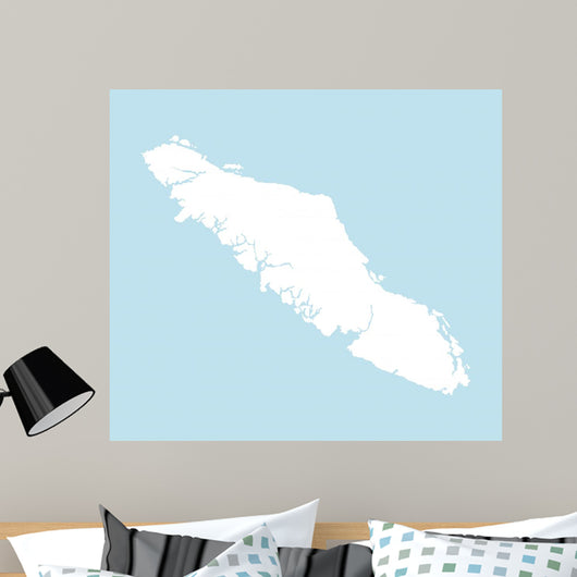 Vancouver Island Map Wall Mural