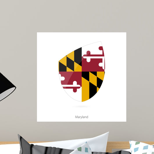 Flag Maryland Style Rugby Wall Decal