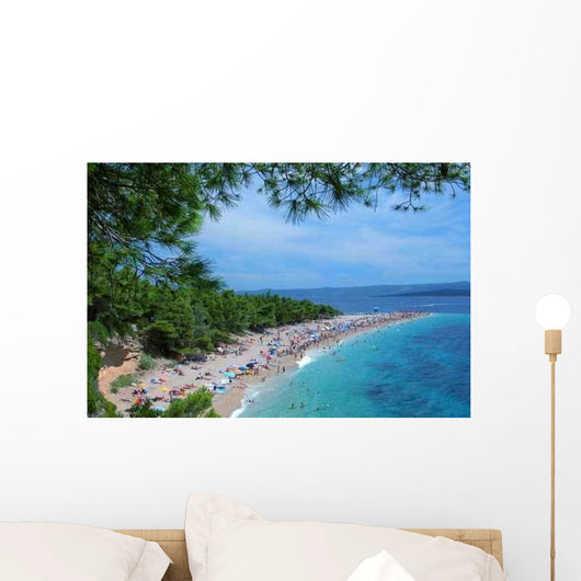 Sunbathing Beach Wall Decal