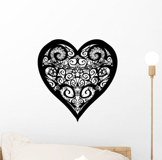 Forever Heart Tattoo Silhouette Wall Decal