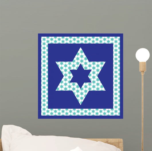 patterned Jewish star Wall Mural