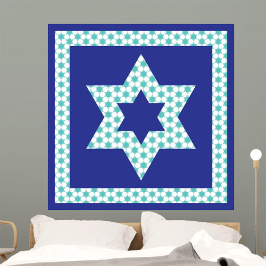 ... patterned Jewish star Wall Mural ...