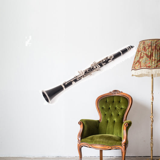 Clarinet on white Wall Decal