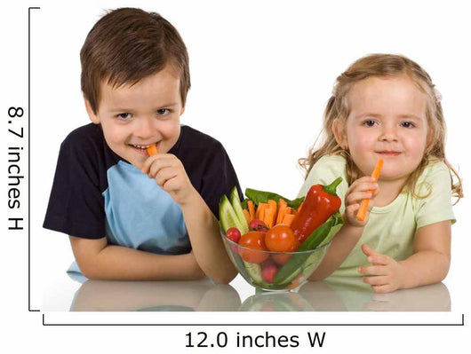 Happy Kids Eating Vegetables Wall Decal