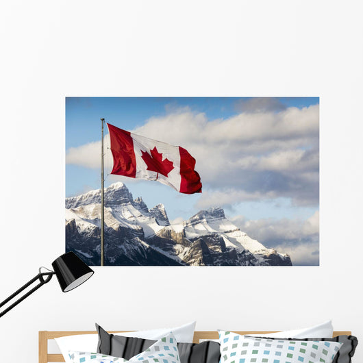 Canadian Flag Blowing Wall Mural
