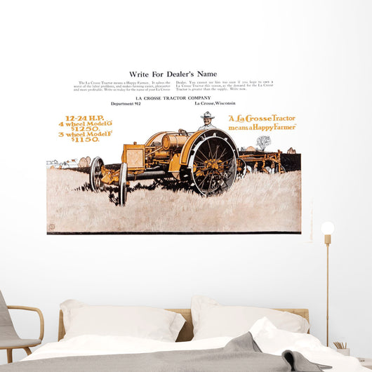 Lacrosse Tractor Advertisement Wall Decal