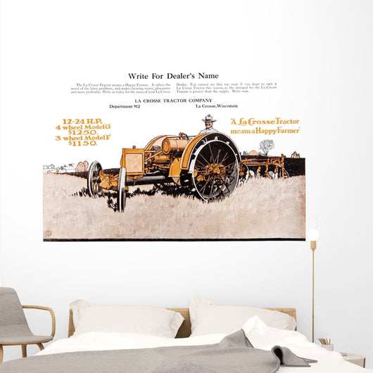 Lacrosse Tractor Advertisement Wall Mural