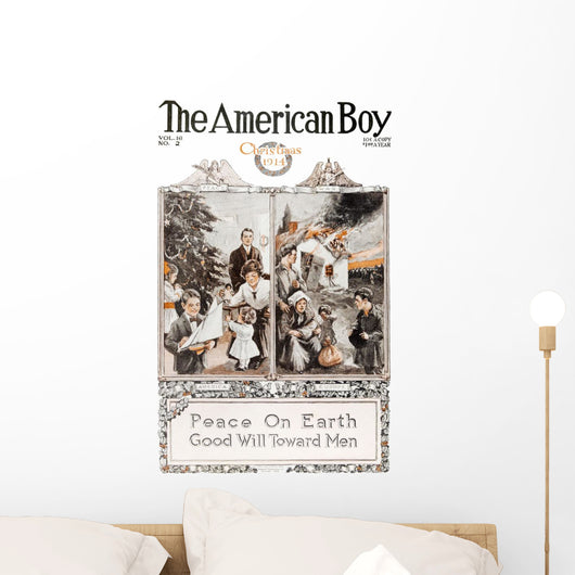 Historic The American Boy cover with illustration from 20th century Wall Mural