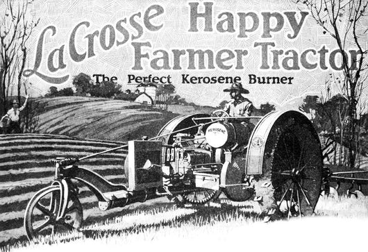 Historic LaCrosse tractor advertisement Wall Mural