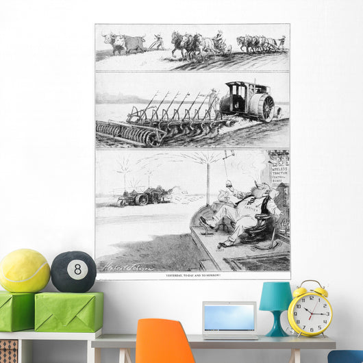 Comic strip in Country Gentleman agricultural magazine Wall Mural
