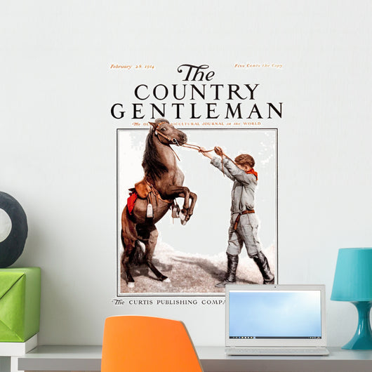 Cover of Country Gentleman agricultural magazine Wall Mural